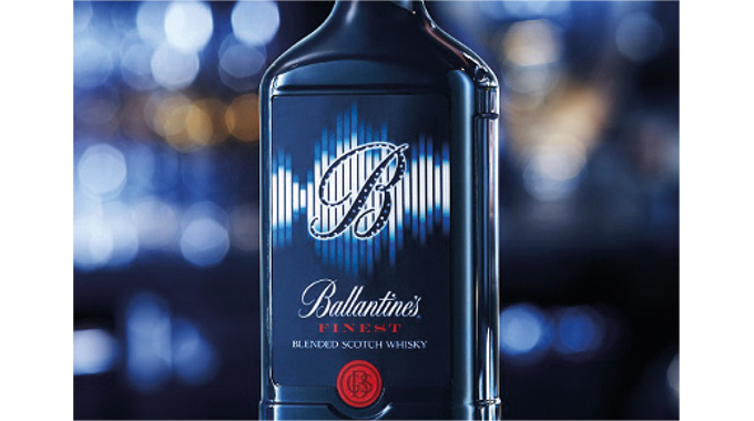 Figure 9.11 - A printed electro-luminescent display seen on a Scotch whisky bottle