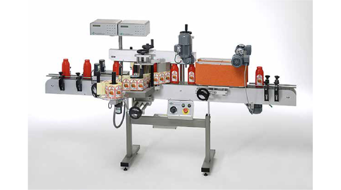 Figure 9.2 Label applicator machine (courtesy Packsys)