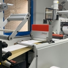 BST eltromat's TubeScan system added to a Prati Saturn slitter rewinder