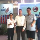 L-R Yolanda Wang, L&L; Andy Thomas-Emans, L&L; Gong Zhen, general manager of Ken Hung Hing; Kevin Liu, Labelexpo