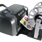 An optional rewinder is available for companies experiencing higher usage and longer runs, or for those who need rewound labels for use with a label applicator or dispenser