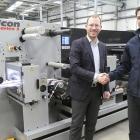 L-R: Jan Franz Allerkamp, MD, Actega Metal Print; Matt Burton, sales director for A B Graphic International