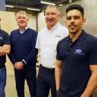 L-R: Russel Griffiths, CAD manager at Arden Dies; Simon Lynch, operations and sales director at Arden Dies; Graeme Doran, Bobst, Simon Zitouni, CAD team at Arden Dies.