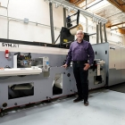 Travis Pollard, vice president and general manager – Napa, California, ASL Print FX with MPS  EF SYMJET 'powered by Domino' hybrid press in Napa, California