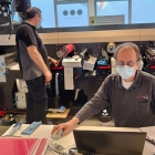 The ink savings test in progress at MPS Systems, Holland