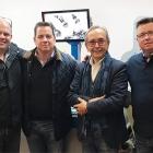L-R: Virgilio Micale, Cartes sales director; Michael Debard, DGM president; Mario Lodi, Cartes chairman; John Paul Debard, DGM vice-president