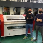 (L-R) Ricard Domingo, DuPont, Brandor Beco and Yago Luling from Comexi with Cyrel Fast 2000 TD platemaking system