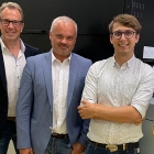 L-R: Helmuth Munter, segment manager, label and package printing at Durst Group; Sten Sarap, owner of LabelPrint OÜ, and Martin Leitner, product manager at Durst Group.