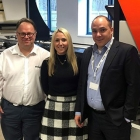 L-R: Darren Pickford, sales director of Edale; Louise Bailey. business development manager of Edale; Dino Miketek, owner of Imagus