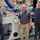 (L-R) Steve Leibin, president, Matik; Ken Pizucco, chief supply chain officer, Fortis Solutions Group; Vito Ghiloni, vice president of manufacturing, Fortis Solutions Group; Massimo Lombardi, general manager of Lombardi Converting Machinery
