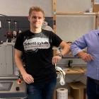 L-R: John Brixen, owner of Nemprint; Glenn Büttner of NoMe, agent for GM Scandinavien