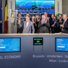 Hybrid Software Group has celebrated its change of name and corporate identity by ringing the bell to open trading at the Euronext Stock Exchange in Brussels