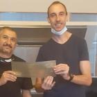 (L-R) Edmund Hendricks, Plateroom team leader and Hein Koen, platemaker, MCC Paarl