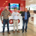 Jeppe Mølvadgaard, co-owner of Nortech Solution; Anton Zhukov, area sales manager at MPS; and Mads Iversen, co-owner of Nortech Solution at MPS Systems office.
