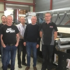 Auraprint Oy team with newly installed MPS flexo press