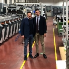 L-R: Michele Ingarao, factory director and Fernando Staino Giocondi, CEO of Carlucci Etichette between two recently installed OMET X6 presses.