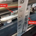 Omet has launched Cold Foil Saver which allows printers to use the same foil twice