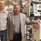 L-R: Péter Markό and Janos Markό with Omet X6.0 press installed at Druk-ker