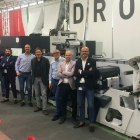 Sales teams of Fornietic and Lirmaprint at Omet Drome with the new XJet