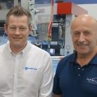 L-R: Lee Hadley, area sales manager at Rotometrics; Paul Larkin, operations director at Hamilton