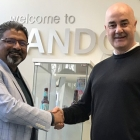 L-R: Suhas Kulkarni, DKSH general manager, business development Asia Pacific, printing packaging and converting; Stuart Mitchell, sales director at Sandon Global.