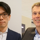 L-R: Taishi Motoshige, marketing director for Europe at Screen Europe; Martijn van den Broek, regional sales manager for Benelux at Screen Europe