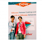 Isabelle Uhl (left) and Meike Wesseling at Dow stand during Labelexpo Europe