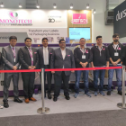 Monotech team with the Colornovo at Labelexpo Europe 2019