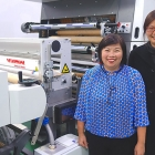 L-R: Emma Lin and Carol Liang at the Wen Chyuan manufacturing plant in New Taipei City