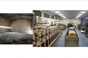 Before and after: the new plant in Goa set up by Kumar Labels