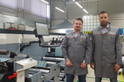 Milkpack's deputy general director for production, Pavel Pronin, (left) and Sergei Kochetov, commercial director