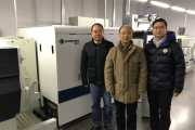 L-R: Li Guoqiang of Spande, Ju Jinyuan of Hyprint and Frank Xie of Domino