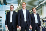 IST Metz management, L-R: Holger Kühn, Christian-Marius Metz and Dr Robert Sänger
