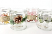 Signite decorated candle containers demonstrate high degree of heat resistance