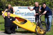 Team Tamar Labels, with Ricky Hann (bottom left)