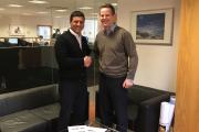 Edale managing director James Boughton (right) with his counterpart at Redagraph, Reda Moukite (left)