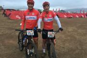 Brett Van Coller (left) and Grant Watson (right), who rode in the Absa Cape Epic Race 2018 for Team Woolworths Rotolabel