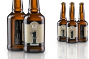 The first beer label featuring metallic decorations produces with Actega Metal Print's EcoLeaf technology