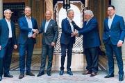 (L-R) Fabrizio Gualdi, Adrian Tippenhaeur, Andrea Cerisara, Daniele Grotto, Romeo Kreinberg and Herbert Doleisch
