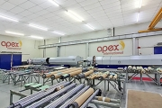 Apex Latin America´s laser room with the new laser engraving machine at the right
