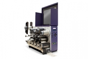 The QLS-4100 XE multi-layer roll-to-roll printer with Metallograph ribbons