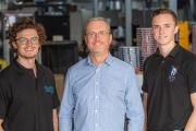 L-R: Harry Baker, Steve Baker and Tom Baker of Baker Labels