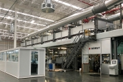 Bobst CO 8000 silicone liner machine at the production facilities of Itasa, Querétaro, México