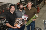(L-R) Tom Castle-CEO, Will Wyman-operations manager, Jeff Elmer-plant manager standing in front of their new pouch converter