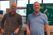 L-R: Martin Hauer and Rudolf Hauer, managing directors of Hauer Labels in the front of their new Dantex PicoColour press.