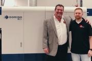 Abbott Label president John Abbott with digital manager Whitney Watson