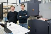 L-R: Stephan Dhont and Matthias Dhont with the Durst Tau RSC E