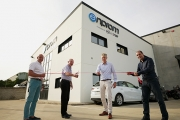 Official opening (L-R) by Josep Orozco, founder of Enprom Solutions; Mike Burton, owner of ABG; Lars Beck, owner of Kocher+Beck; Joan Marc Taboas, CEO of Enprom Solutions