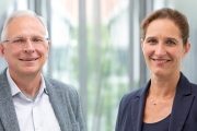Prof. Horst-Christian Langowski, the retiring executive director of Fraunhofer and his successor, Prof. Andrea Büttner