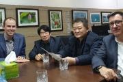 L-R: GEW Director Robert Rae, director of GEW; Moon-soo Choi of Owllus; Dong-seok Lee; Gary Doman, sales manager of GEW.